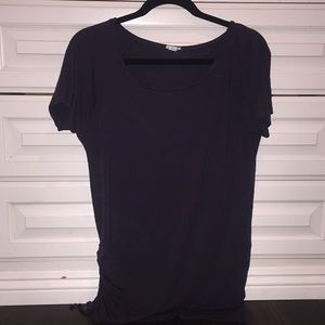 Garage side rouched long t shirt
